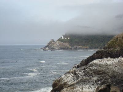 Heceta Head lighthouse. Million dollar view? Or $22? You decide.